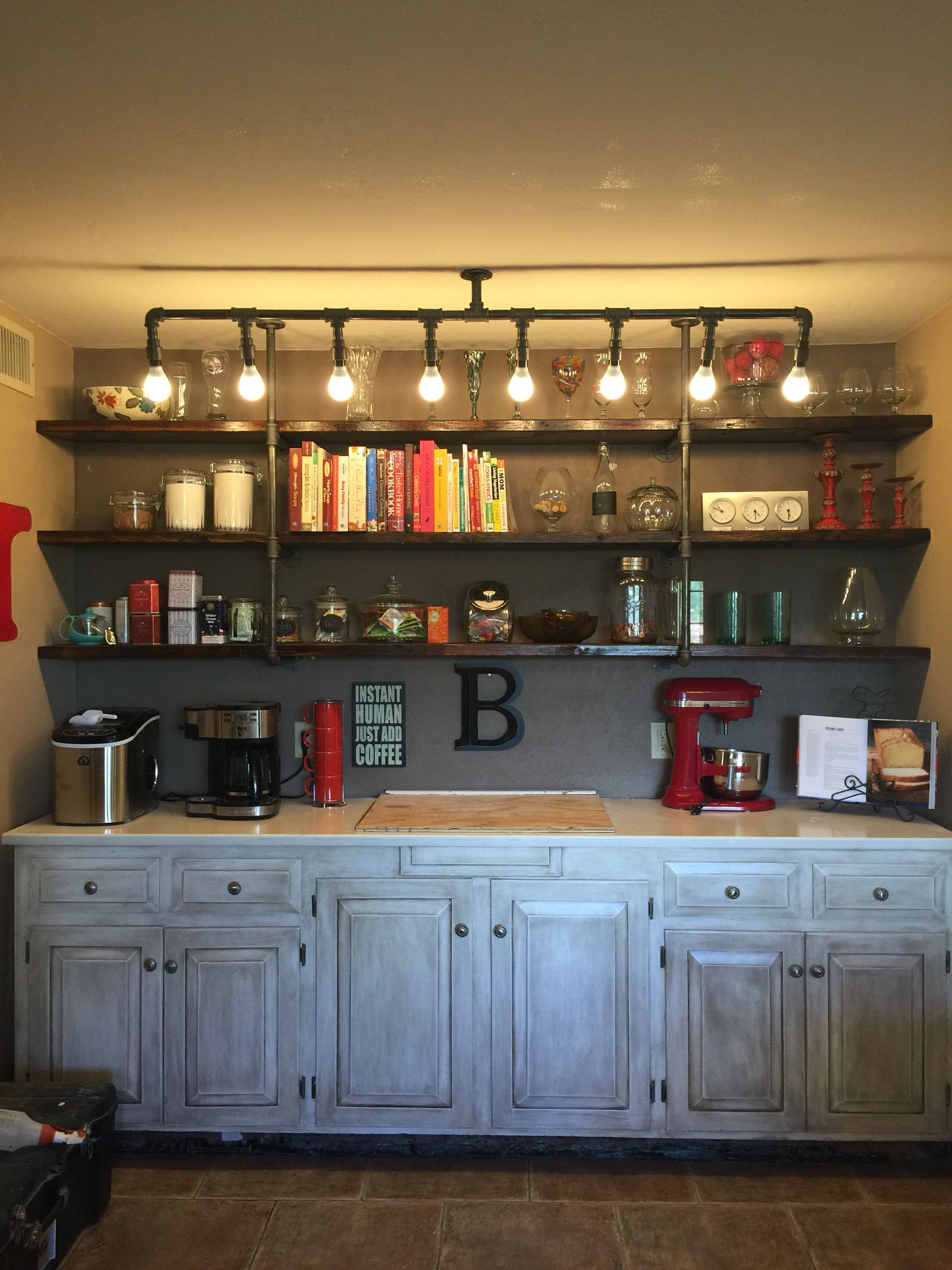 Coffee Bars In Kitchen Farmhouse Style
