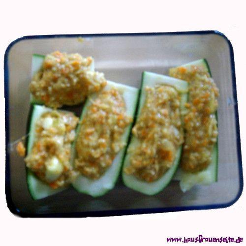 vegetarisch gefüllte Zucchini ohne Fleisch Rezept