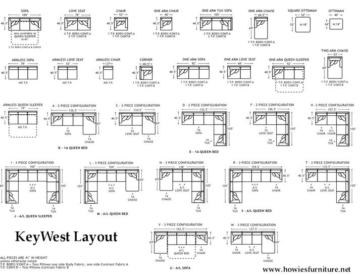 Couch Sizes...Layout Dimensions
