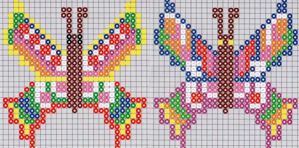 Butterflies perler bead pattern