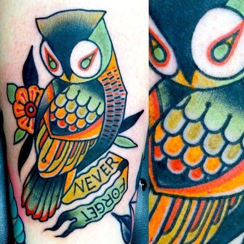 Pin By Cynquithia Winlock On Tattoos Traditional Owl Tattoos Owl Tattoo Geometric Owl