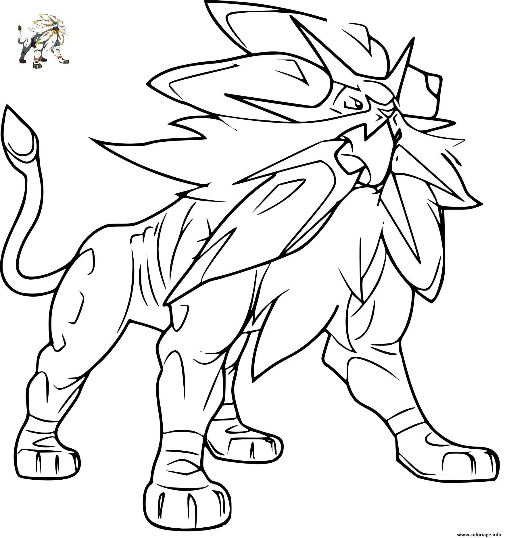Coloriage Pokemon Solgaleo Gx Dessin A Imprimer Dessin Pokemon A