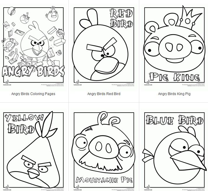 Angry Birds Coloring Pages Plus An Angry Birds Font Free Party Kit
