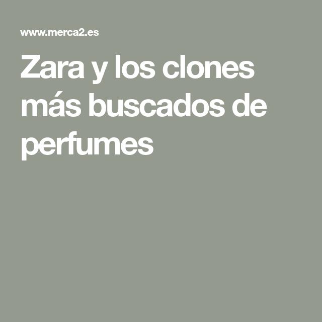 Zara y los clones más buscados de perfumes | Perfume, Zara