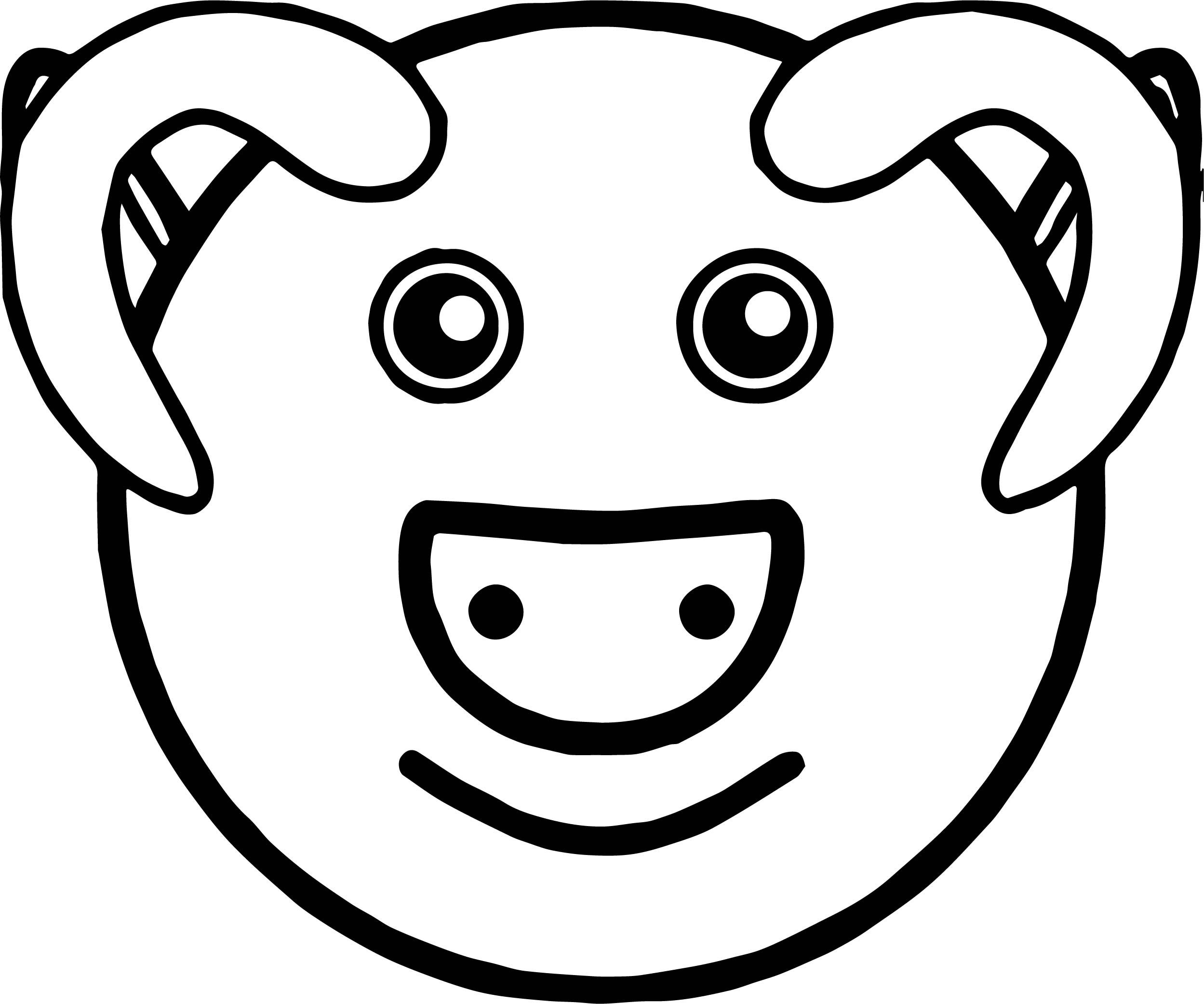 nice Baby Farm Pig Face Animal Coloring Page | Animal ...