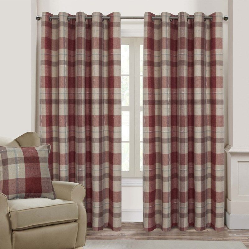 Oban Red Ready Made Eyelet Curtains €129  Harry Corry Limited Classy Red Dining Room Curtains Decorating Inspiration