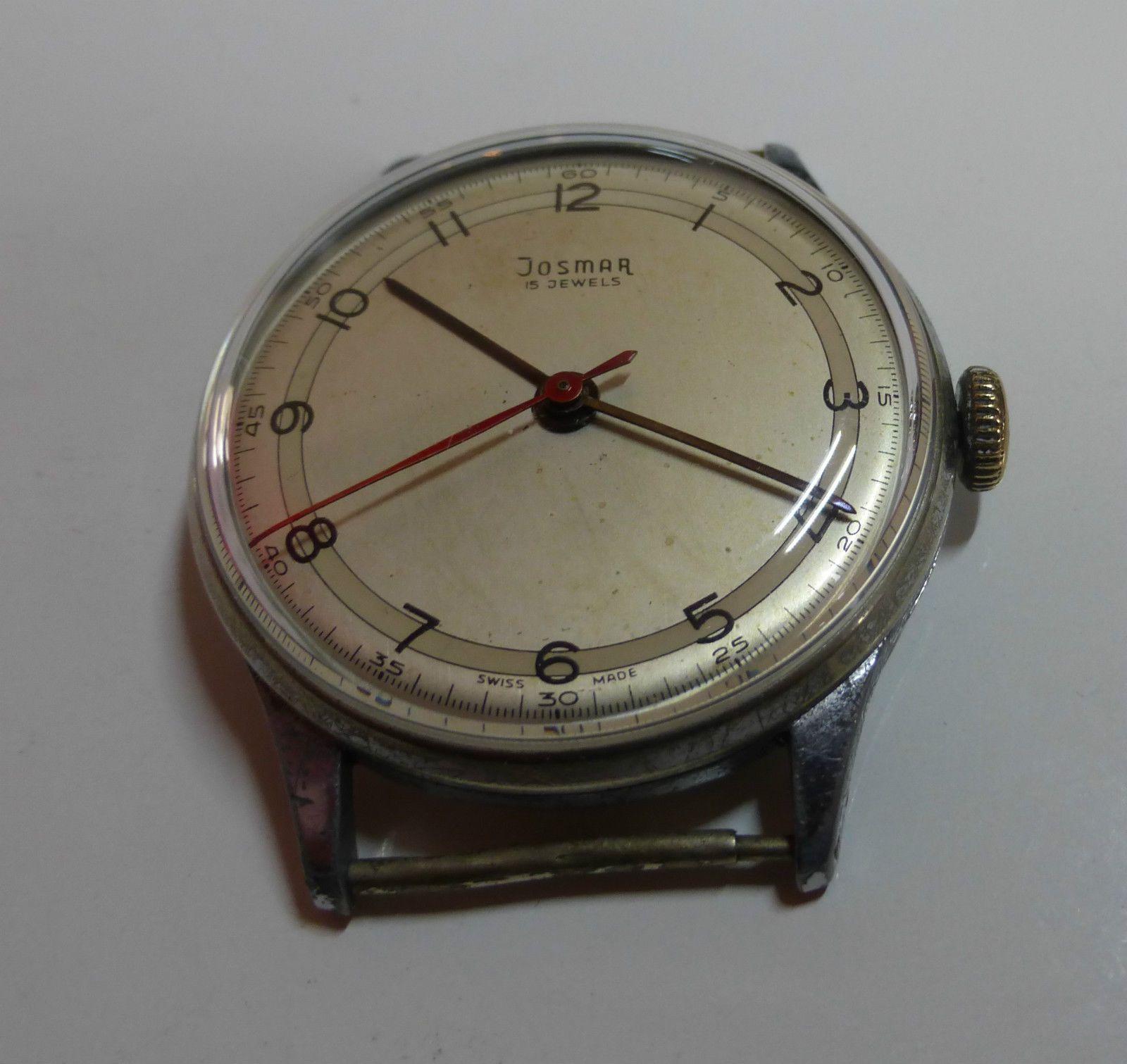 Vintage Herrenuhr * JOSMAR HAU * Handaufzug 15 Jewels ...