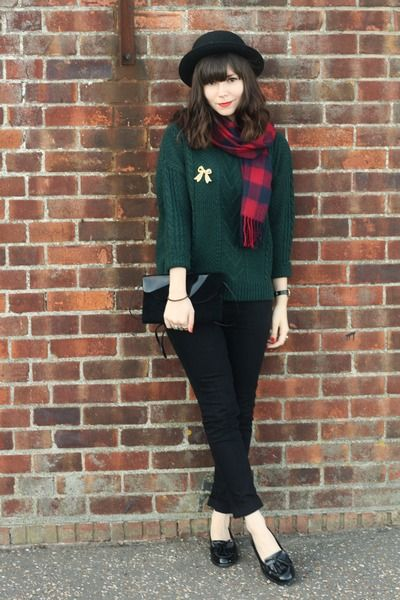 4a8d75d27c Black-topshop-jeans-forest-green-cable-knit-sweater-asos-scarf 400 ...