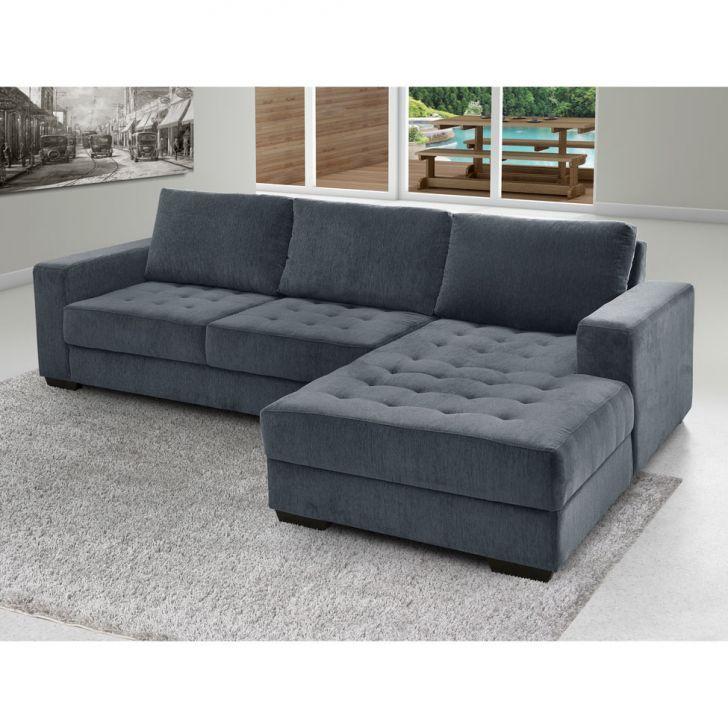 Astounding Sofa 3 Lugares Com Chaise Direito Napoli Jacquard Chumbo Machost Co Dining Chair Design Ideas Machostcouk