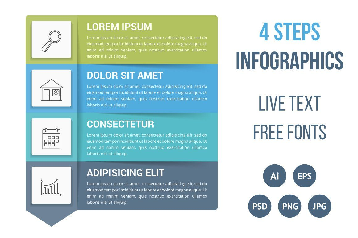 Four Steps Infographics Infographic Templates Infographic Web Design