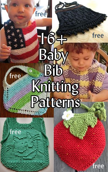 Baby Bib Knitting Patterns Great For Baby Shower Gifts And