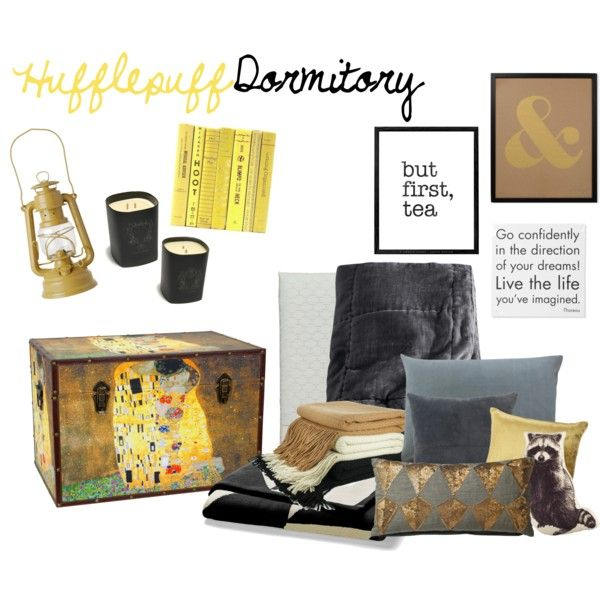 Hufflepuff Dormitory Set by spikedd on Polyvore featuring interior ...