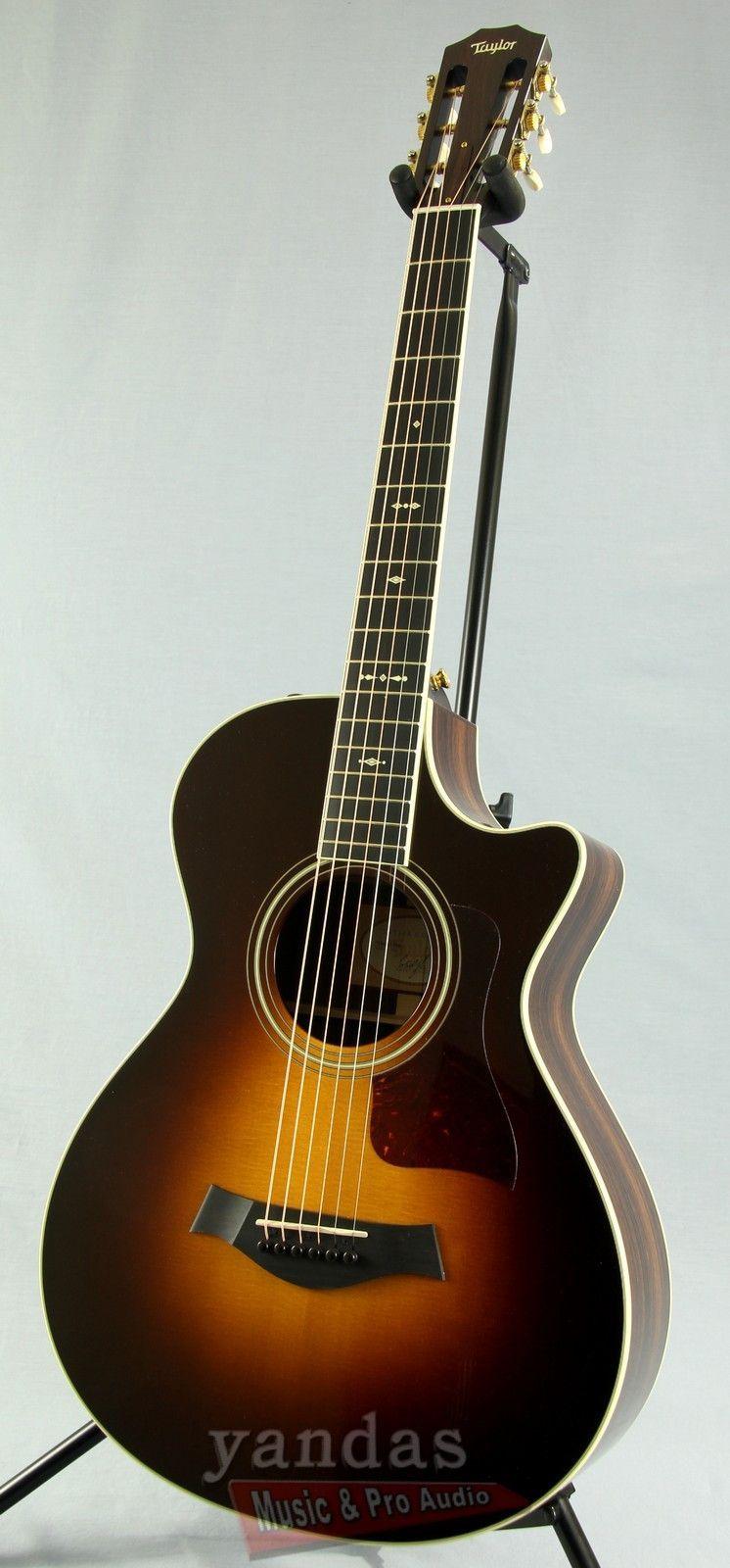 taylor 712ce 12 fret grand concert acoustic electric guitar vintage guitars acoustic music. Black Bedroom Furniture Sets. Home Design Ideas