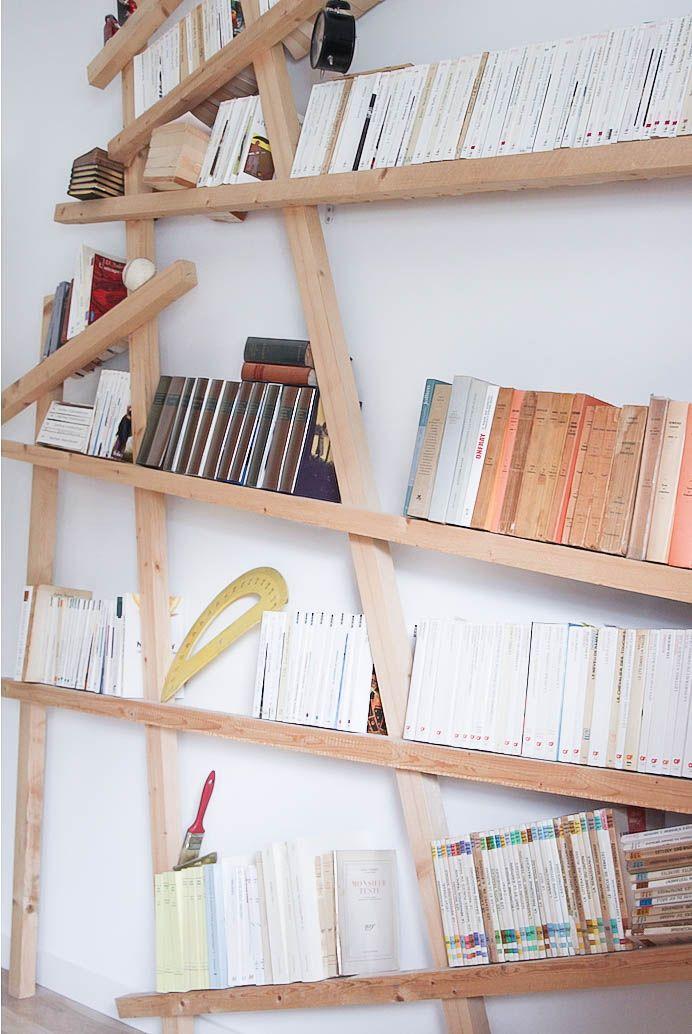 armelle propose un diy biblioth que mikado pour une d co scandinave au top parce qu 39 il y a. Black Bedroom Furniture Sets. Home Design Ideas