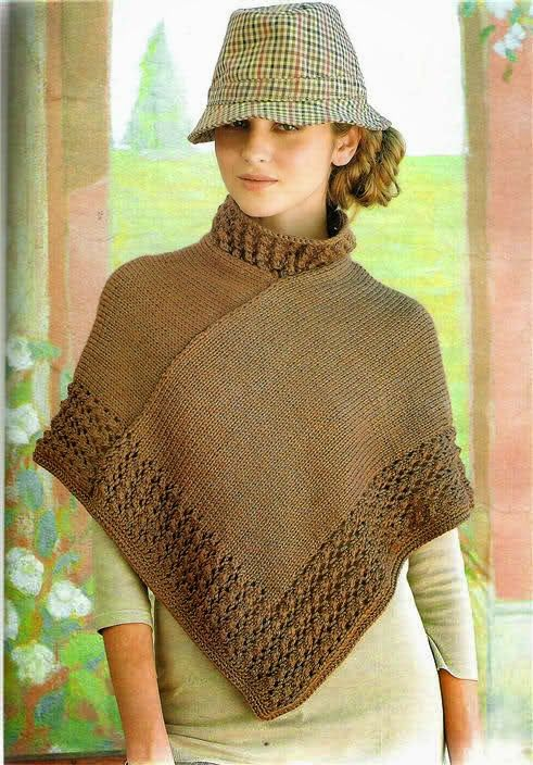 Crochet y Dos agujas: Poncho | tejidos | Pinterest | Damas, Patrones ...