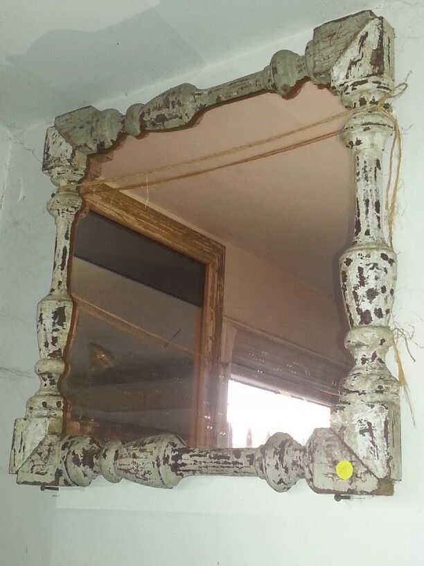 Mirror frame made from fancy stair balusters   Salvage ...