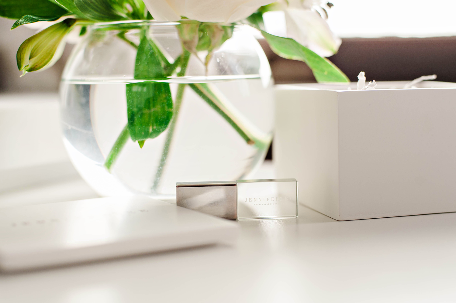 Crystal USB Drive, Photography Packaging