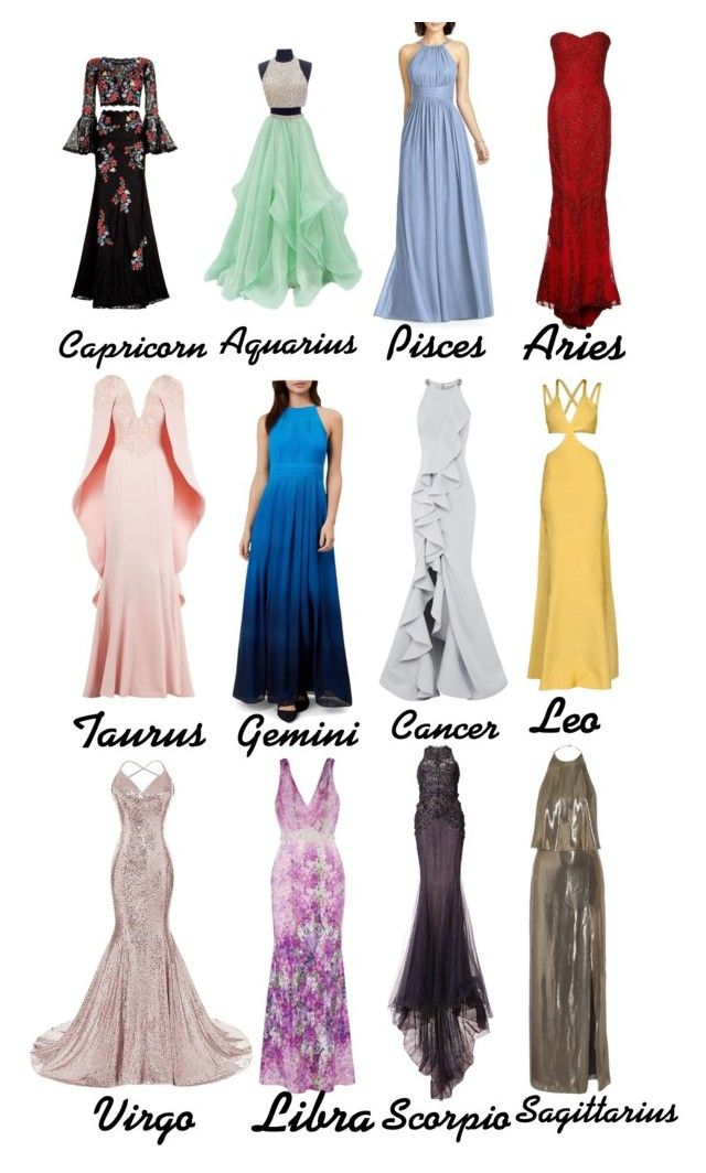The signs as prom dresses