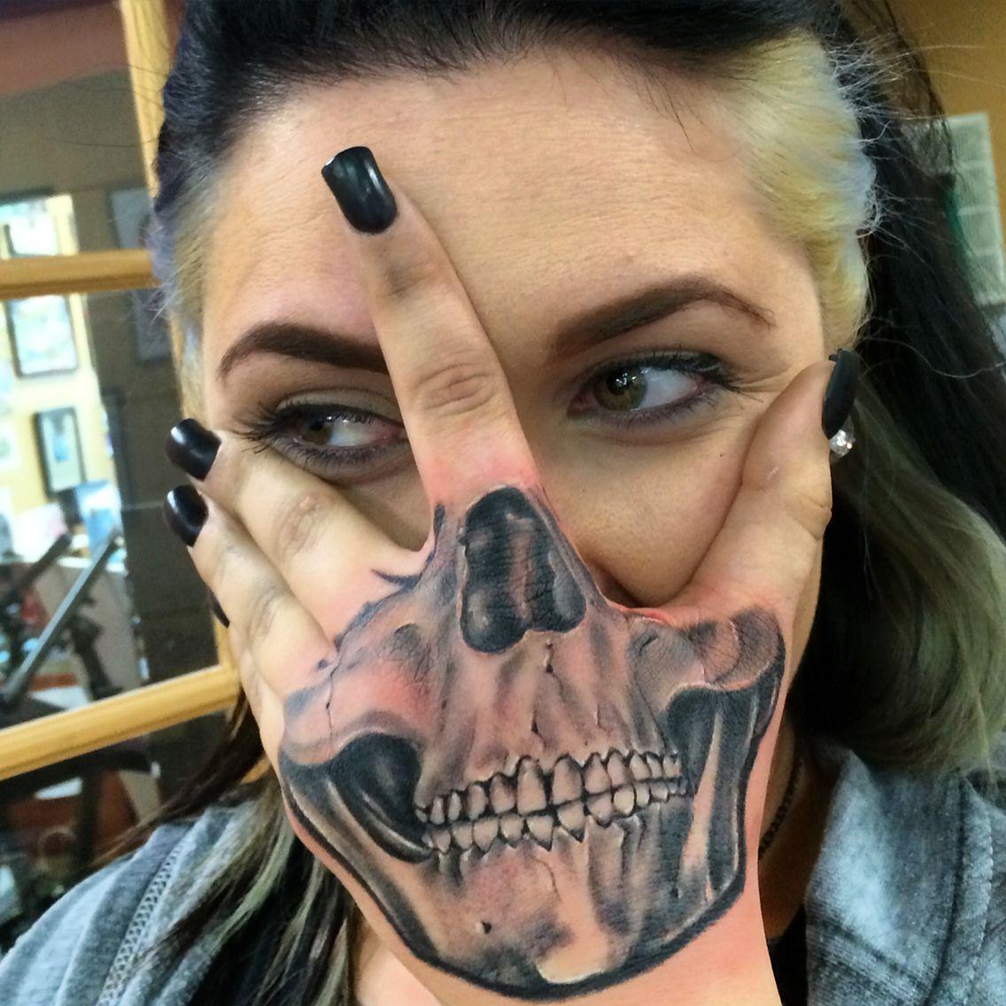 0ea152e90769a Skull hand mask I tattooed | Tattoos I like | Skull hand, Tattoos ...