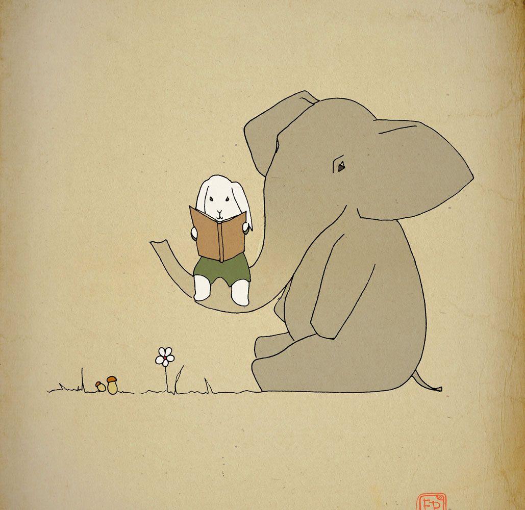 Art print poster 12x16 Kids room elephant , baby wall art, Elephant ...