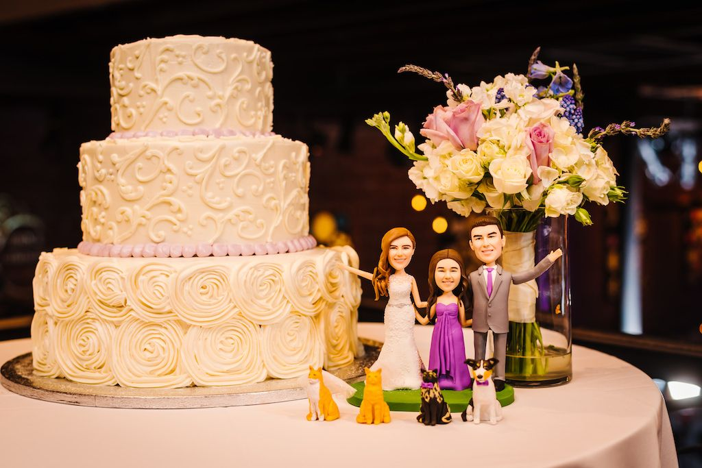 Creative Custom Made Figurine Cake Toppers of Bride, Groom, Daughter ...