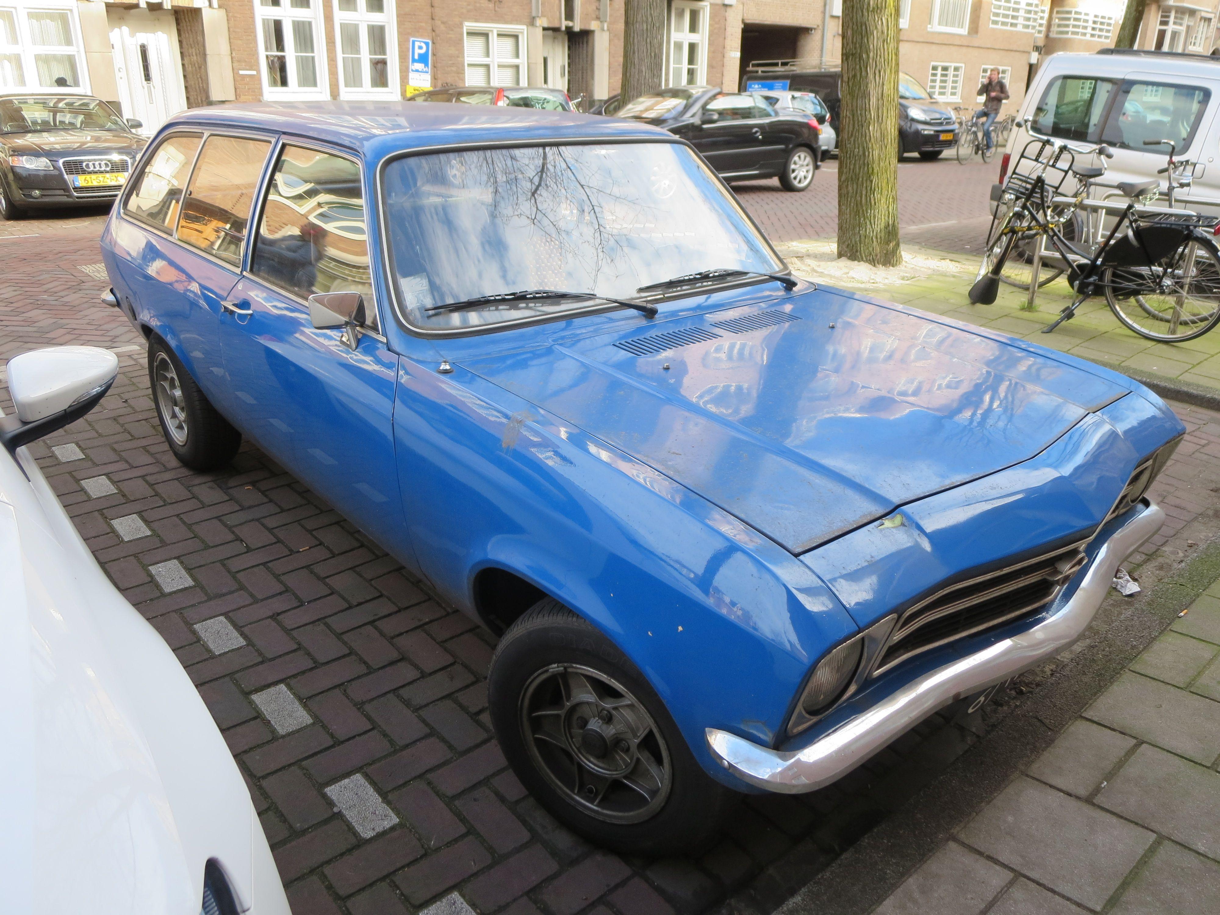 old opel ascona blue