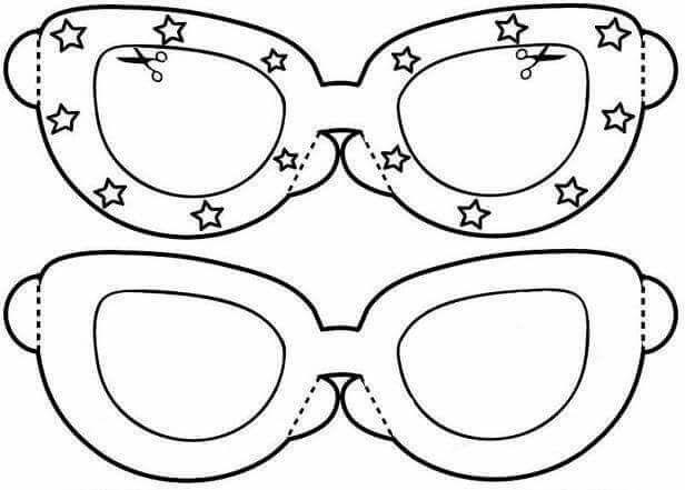 En Iyi Seçim Gözlük Boyama Sayfası Yazdırılabilir Boyama Sayfaları
