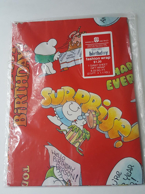 Vintage brand new unopened ziggy birthday paper american vintage brand new unopened ziggy birthday paper american greetings 1980s 1 giant sheet of wrap by onevintagejunky on etsy m4hsunfo