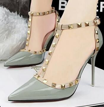 South Korean style women high heels in 2019 | T strap heels