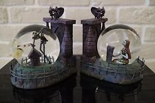 Disney Nightmare Before Christmas Jack and Sally Bookends snowglobe