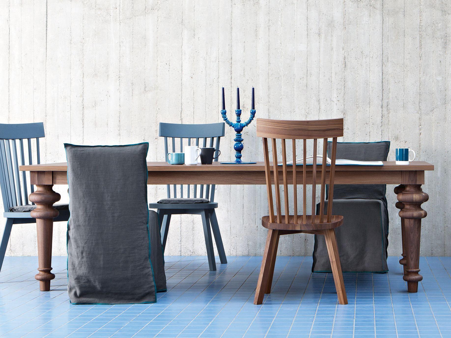 Gervasoni Sedie ~ Rectangular dining table gray by gervasoni design paola navone