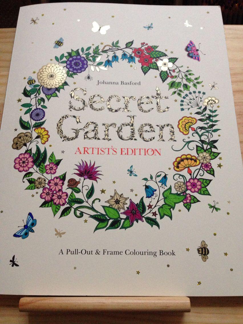 Artist Edition Of Secret Garden Sharpies Permanent Markers Basford Coloring Book Secret Garden Coloring Book Johanna Basford Coloring Book