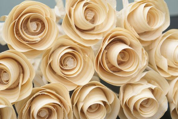 12 Wooden Roses For 5th Anniversary Birthday Get Well Soon Gift