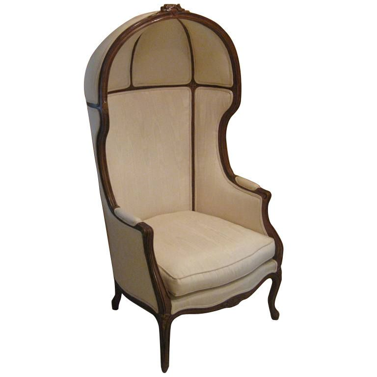 Exceptionnel French Art Deco Hooded Chair | From A Unique Collection Of Antique And  Modern Wingback Chairs