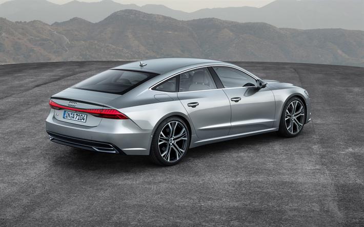 Download Wallpapers Audi A7 Sportback 2018 4k Rear View Led