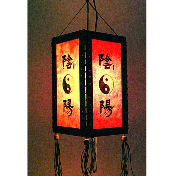 Zen Hanging Lamp Lighting Wood Pendant Shade Lantern Chinese Paper Lampshade Home Decor Garden Yin Yang Ha11