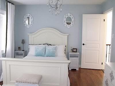 Benjamin Moore Glass Slipper Light Blue Bedroom Blue Bedroom