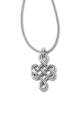Brighton Interlok Endless Knot Petite Necklace. Inspired by a never-ending Celtic knot, the delicately interwoven pendant suggests endless love and friendship.