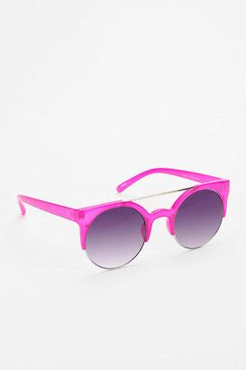 Urban Outfitters Sweet Like Candy Round Sunglasses in Hot Pink only $16 #aff