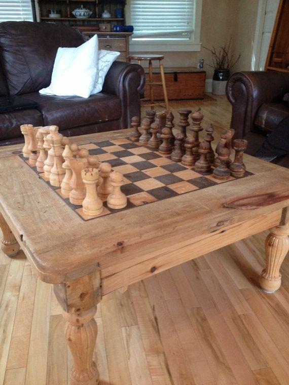 Elegant Coffee Table Chess Board
