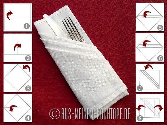 Servietten Bestecktasche servietten falten vom tafelspitz zur bestecktasche aus meinem