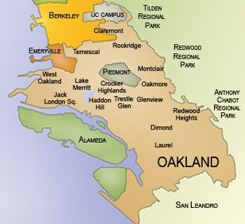 Image result for oakland map