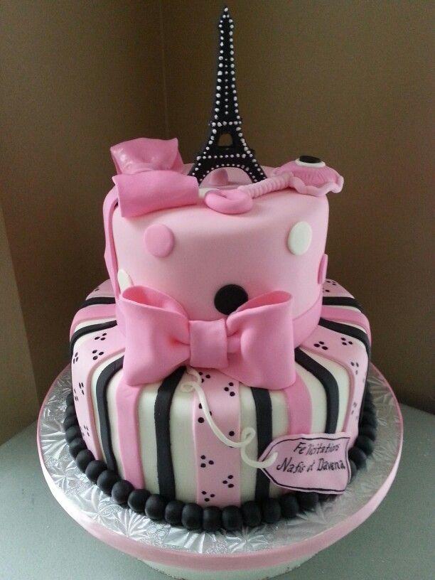 Good Paris Themed Baby Shower Cake