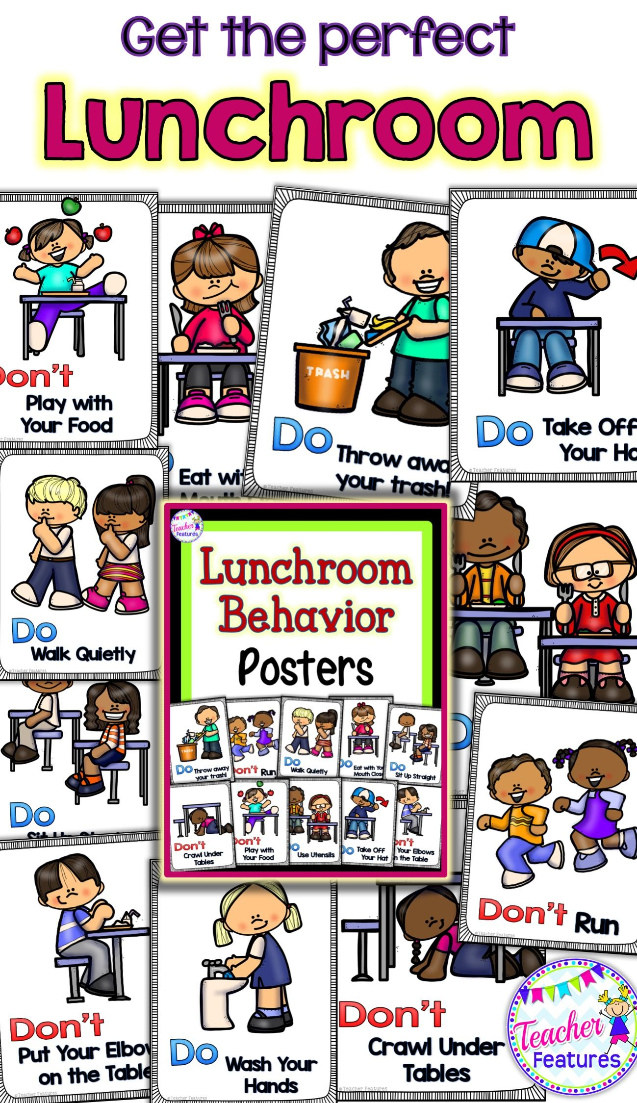 Lunchroom Rules Amp Behavior Posters