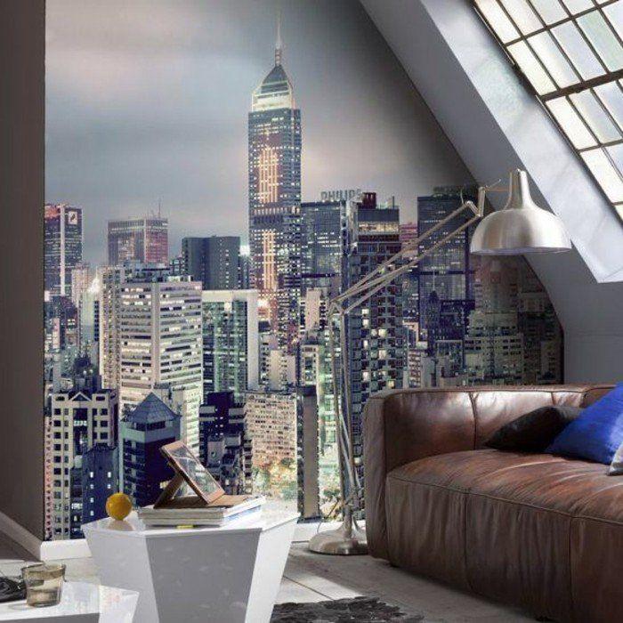 les stickers muraux new york des id es spectaculaires pour vos murs d co mur. Black Bedroom Furniture Sets. Home Design Ideas