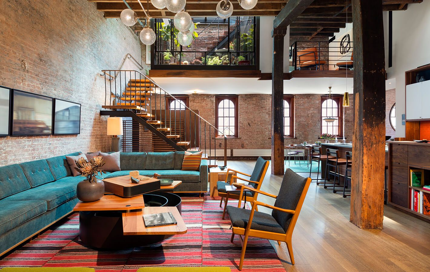 Tribeca Loft Architecture Interiors Terrace Green Roof Renovation Historic Building Nyc Loft Design Loft Living Home