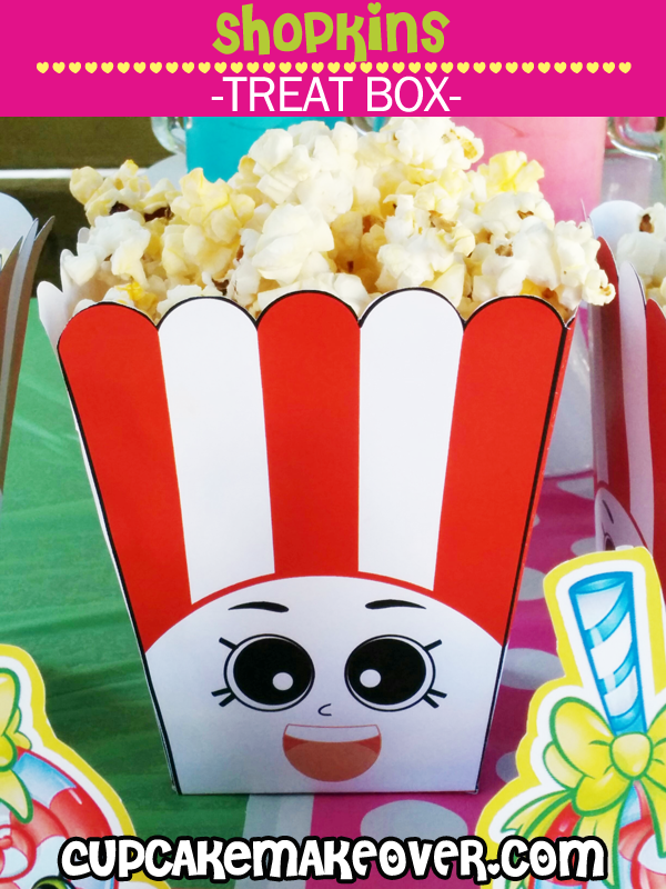 Shopkins Poppy Corn Popcorn Boxes, Party Favors