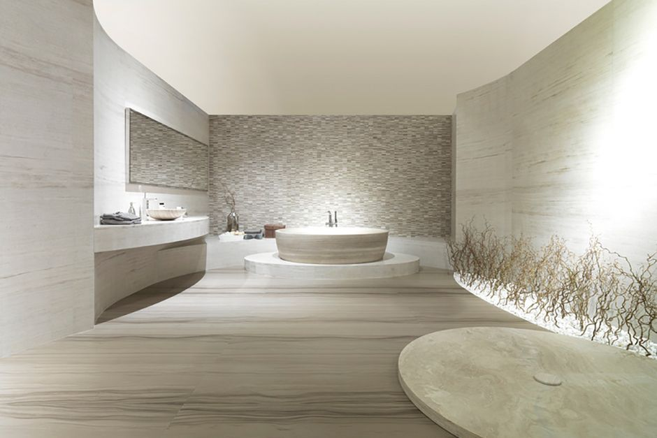 Stone porcelanosa bathroom update in 2018 pinterest bagno
