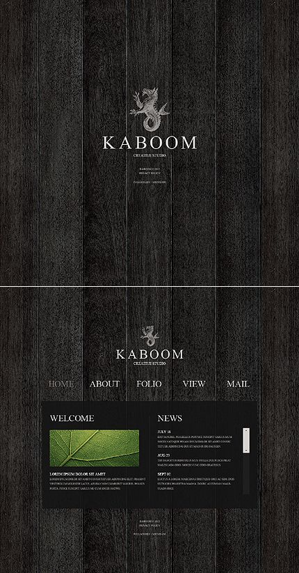 Kaboom Design Flash Templates by Cowboy   Web Design Flash ...