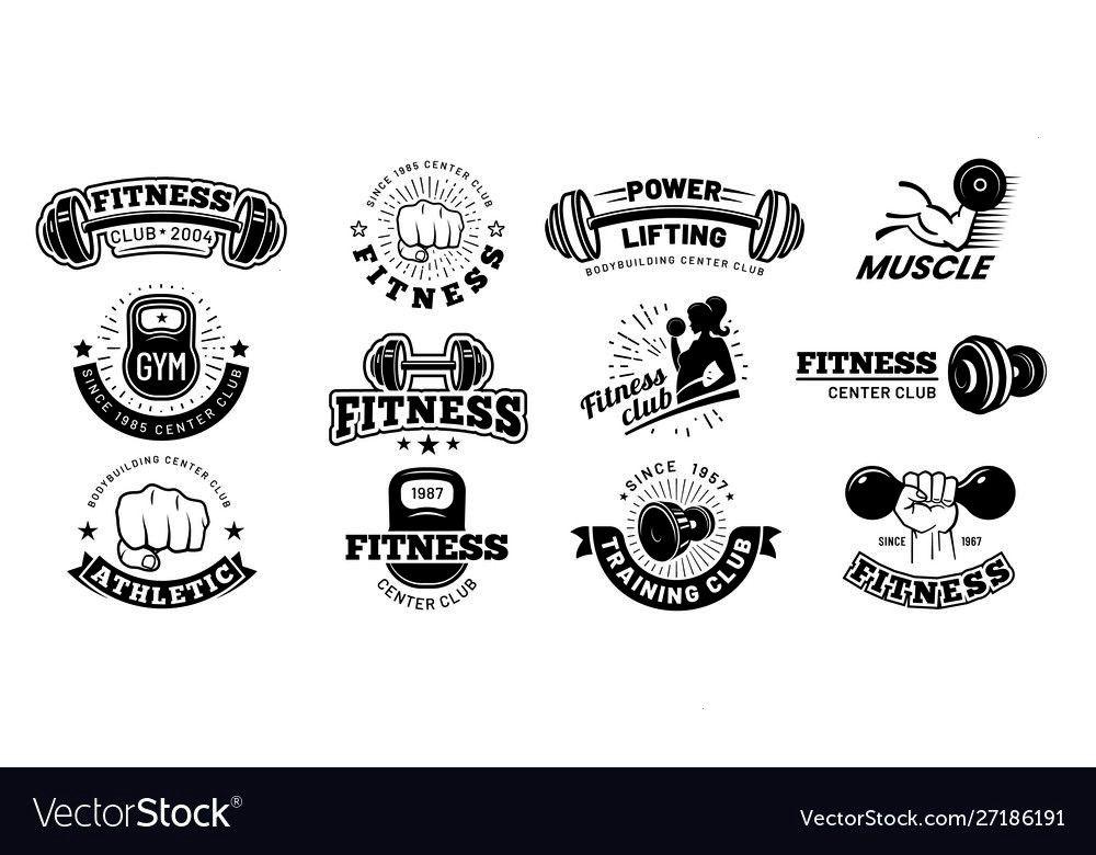 #affiliate #fitness #badges #emblem #vector #retro #sport #label #image #gym #and #adRetro fitness b...